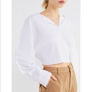 Urban Outfitters Long Wide Sleeve Crop Top